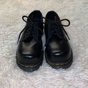 DR MARTENS BLACK 1461 SMOOTH LEATHER OXFORD SHOES